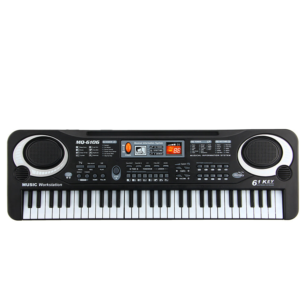 ToyBus 61 Keys Digital Electronic Piano Toy Keyboard Electric Piano with Charger Microphone Musicial Toy for Boys Girls Gifts