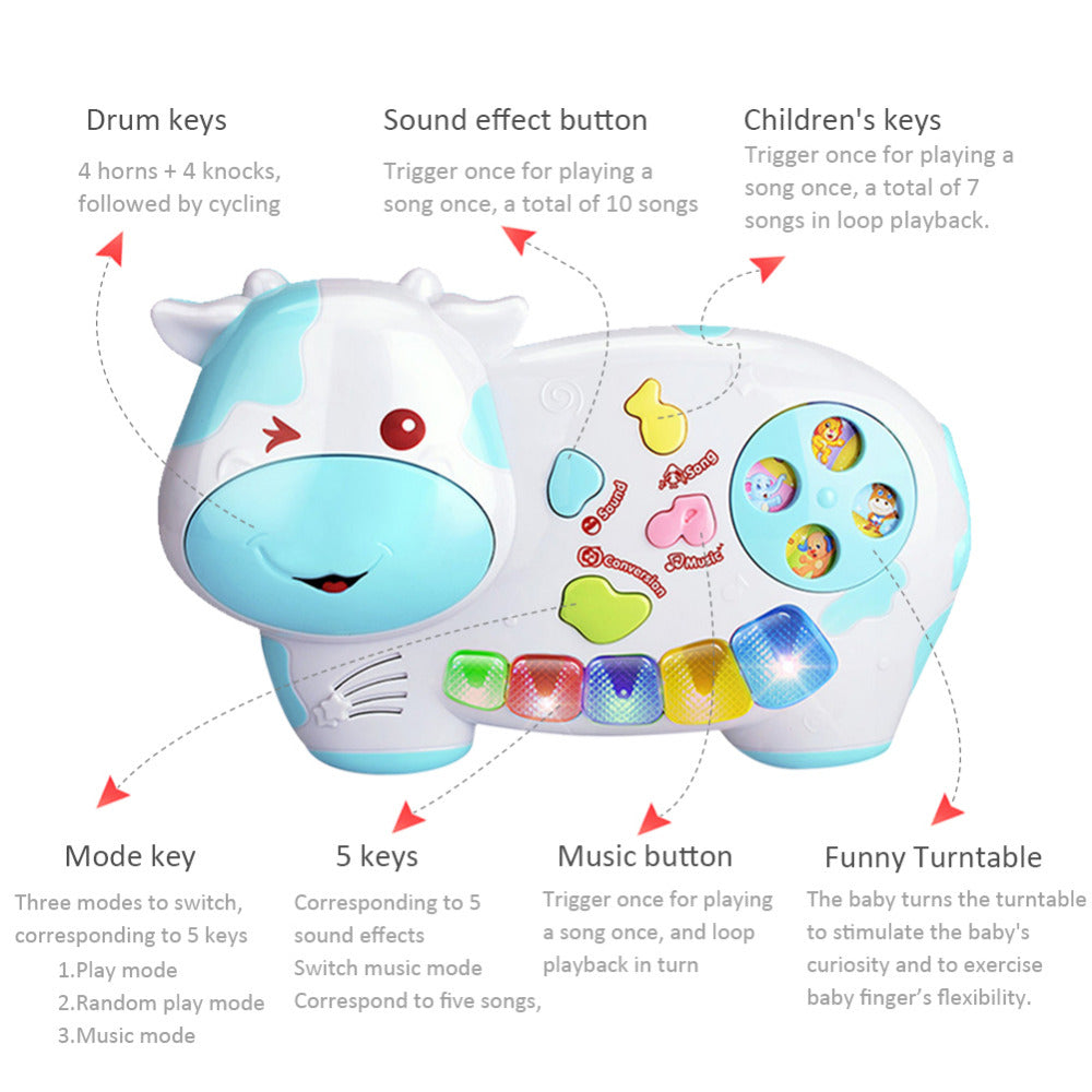 Cute cartoon animal shape Educational Toys For Children Electronic Piano Lighting Zoology Musical Instruments Electronic Organ