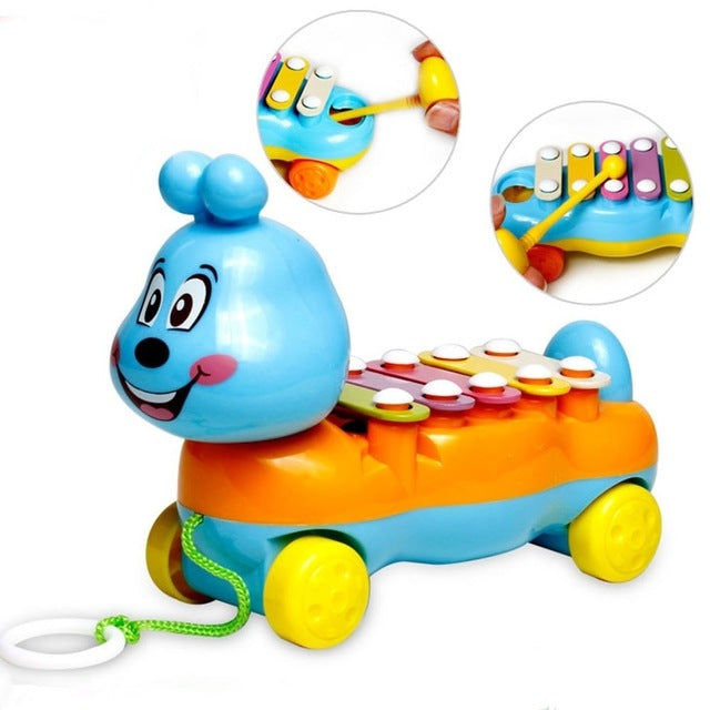 Colorful Intellectual Development Hand Knock Piano Musical Instrument Wooden Early Education Toy