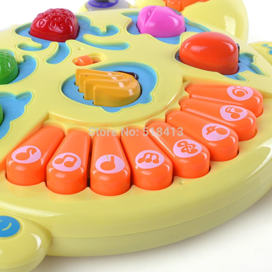 Multifunction Fancy Baby Infant Children Toy Animal Farm Music Piano Keyboard Learning & Exercising Type Electronic Plastic