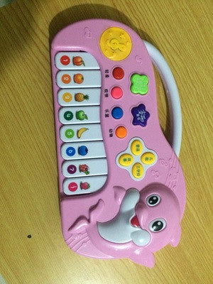 Portable dolphin cartoon Muscial instrument keyboard electronic organ children playing game toy learning
