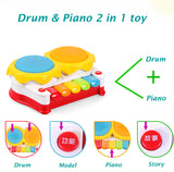 Plastic Electronic Toys for Children Drums Music Toys Baby Piano Toy for Kids Educational Toys Birthday Christmas Gift TY30