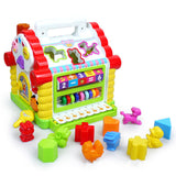 Refinement Multifunctional Musical Toys Baby Fun House Musical Electronic Geometric Blocks Sorting Learning Educational Toy L787