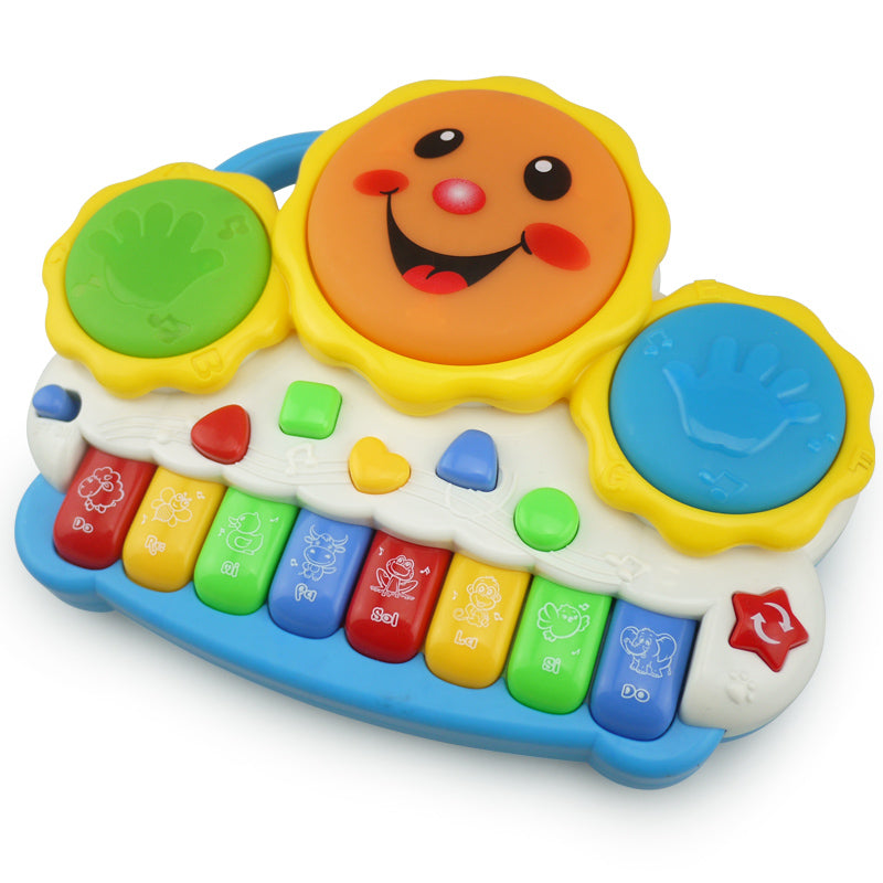 piano toy hand drum smile music one pcs random color children game playing