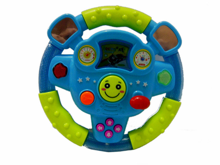 Early Education Steering Wheel Children's Sound Lights Toys Parent-child Learning Educational Electronic Plastic