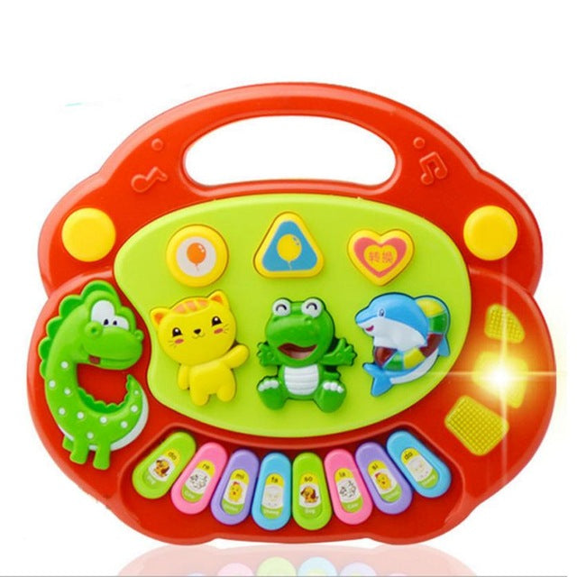 New Useful Popular Baby Kid Animal Farm Piano Music Toy Developmental Red Nov 14
