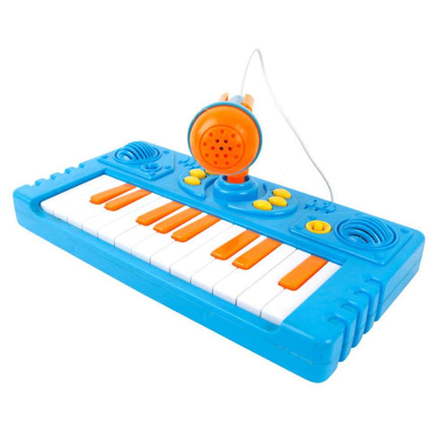 Price reduction Cartoon Keyboard Music Toy With A Microphone for your baby kids to singing the song and listen to the misic