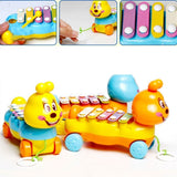 8 Scales Hand Knock Piano Musical Instrument Plastic Caterpillar Colorful Eight-Tone Early Education Development Toy Children 's