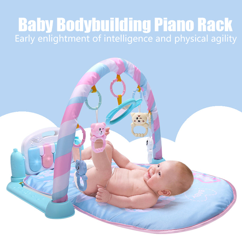 Multifunction Soft Baby Activity Piano Play Mat Music Bed Bell Pay Gym Toy Floor Crawl Blanket Carpet