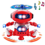 Space Dancing Humanoid Robot Toy With Light Children Pet Brinquedos Electronics Jouets Electronique for Boy Kid