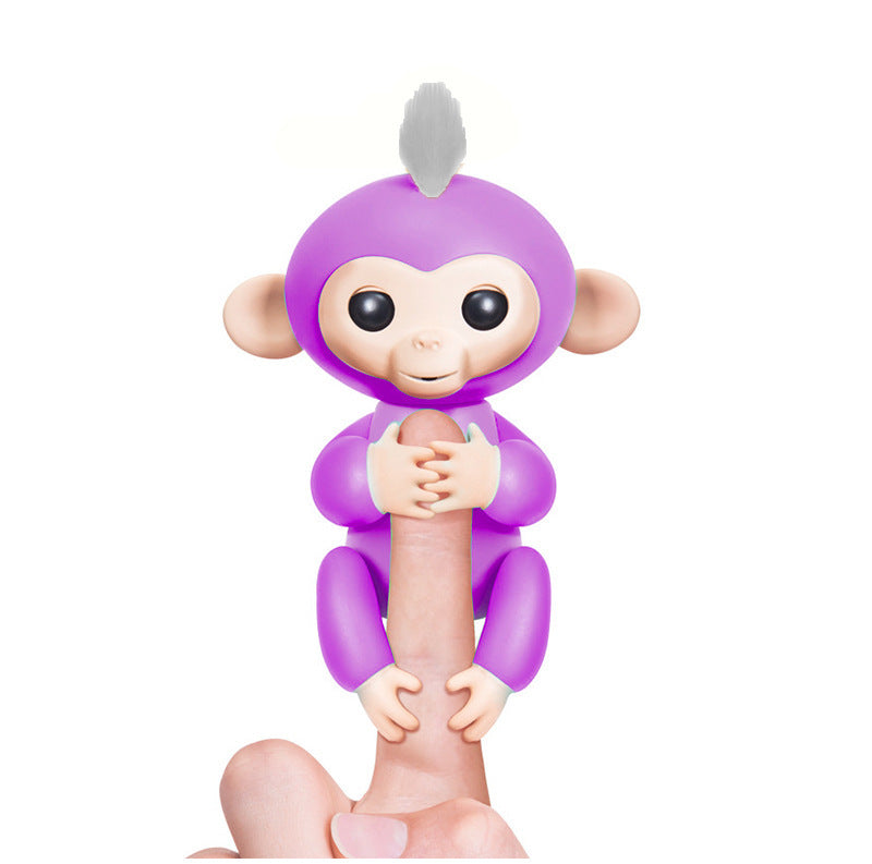Happy Monkey Pack Finger Baby Monkey Rose Interactive Baby Pet Intelligent Toy Tip Monkey Smart Electronic Pet Finger Monkey