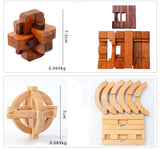 Brain IQ Design Teaser Wooden 3D Building Kong Ming Lock toy Gift for Children