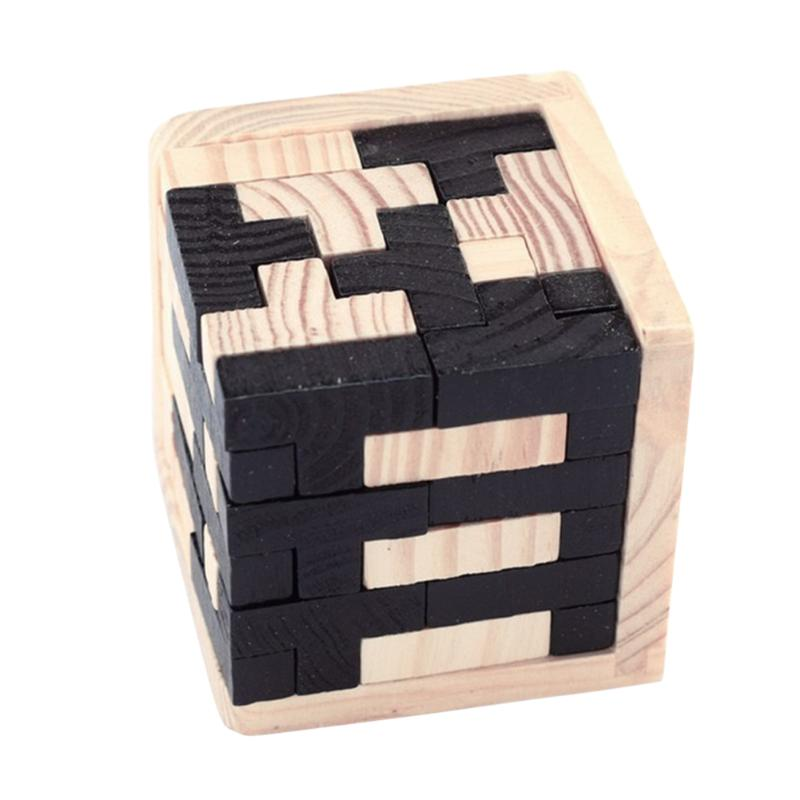 Classical Wooden Luban Lock For Adults Kids Magic Cube Style Brain Teaser 3D Russia Kong Ming Lock Children Early Educational