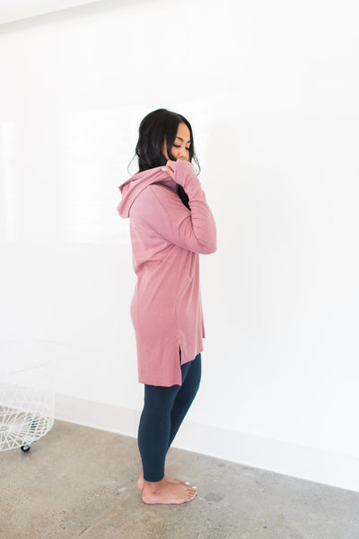 Pacific Hoodie - Rose / Pink - Nourish Sweat Soul