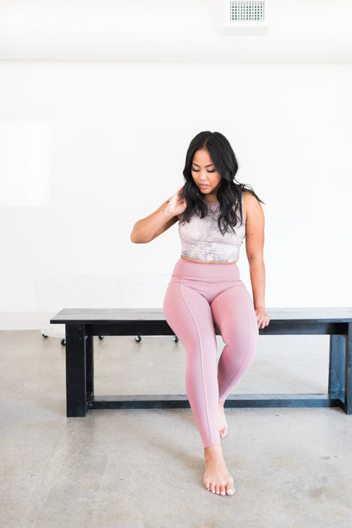 Playa Leggings - Rose / Pink - Nourish Sweat Soul