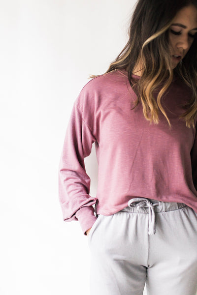 South Bay Sweater - Amaranth / Pink - Nourish Sweat Soul