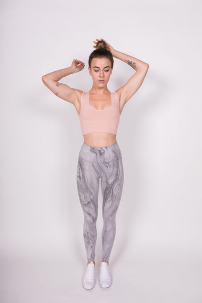 Playa Leggings - Marble / Grey - Nourish Sweat Soul