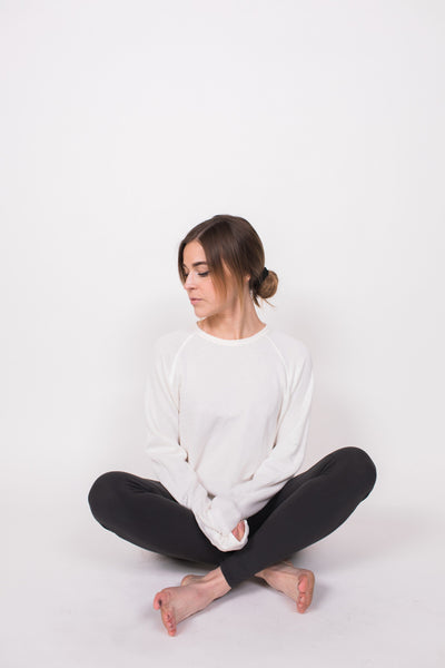 Shore Sweater - Macadamia / Cream - Nourish Sweat Soul