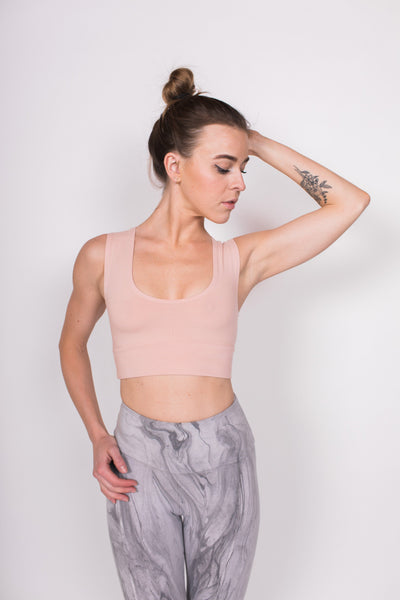 Sunset Crop Bra - Dawn / Pink - Nourish Sweat Soul