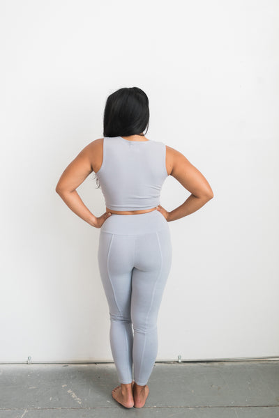 Playa Leggings - Vienna / Grey - Nourish Sweat Soul