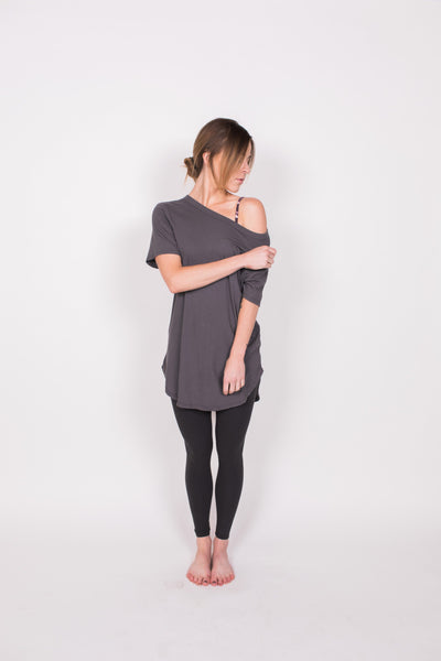 Winter SALE - The OG Tunic - Vintage / Grey - Nourish Sweat Soul