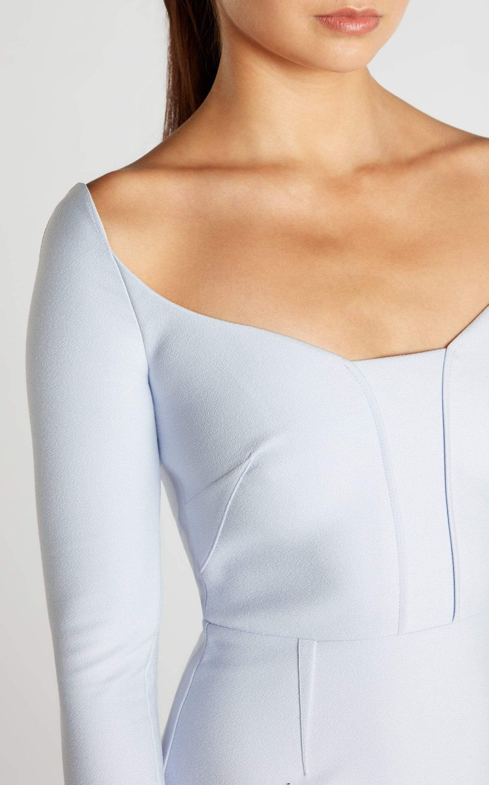 Ardon Dress In Ash Blue from Roland Mouret