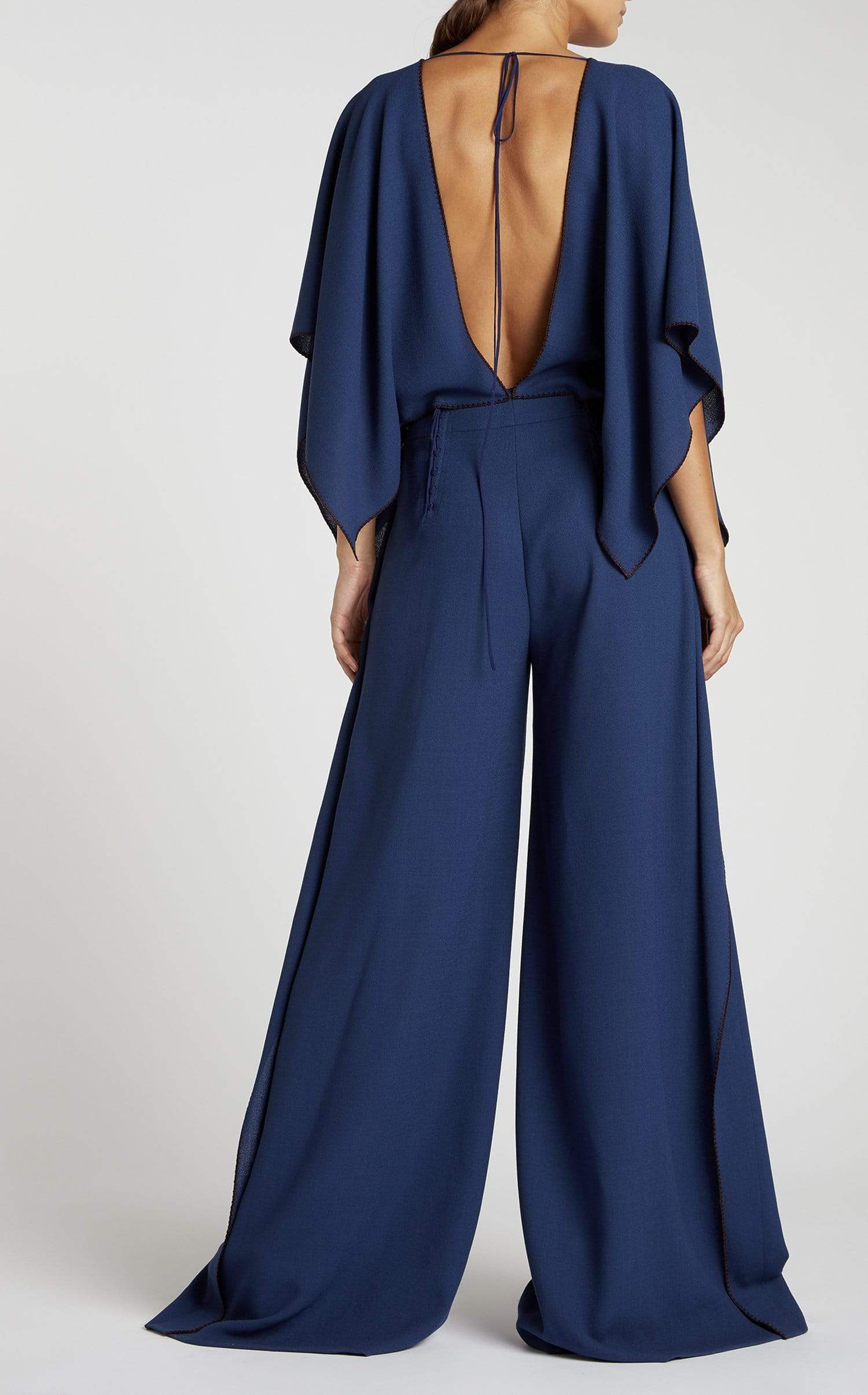 Auclair Jumpsuit In Navy from Roland Mouret