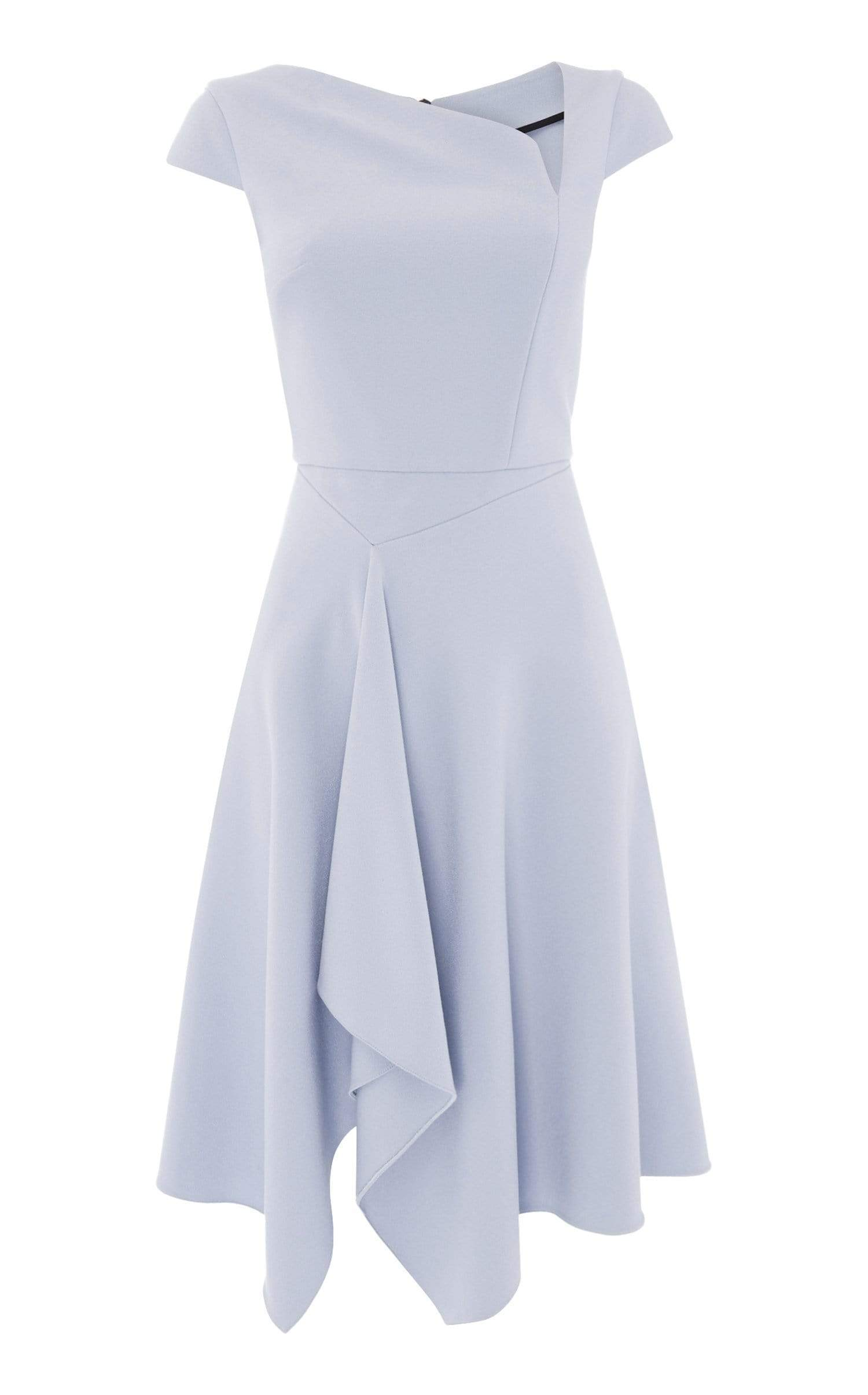Augustus Dress In Ash Blue from Roland Mouret