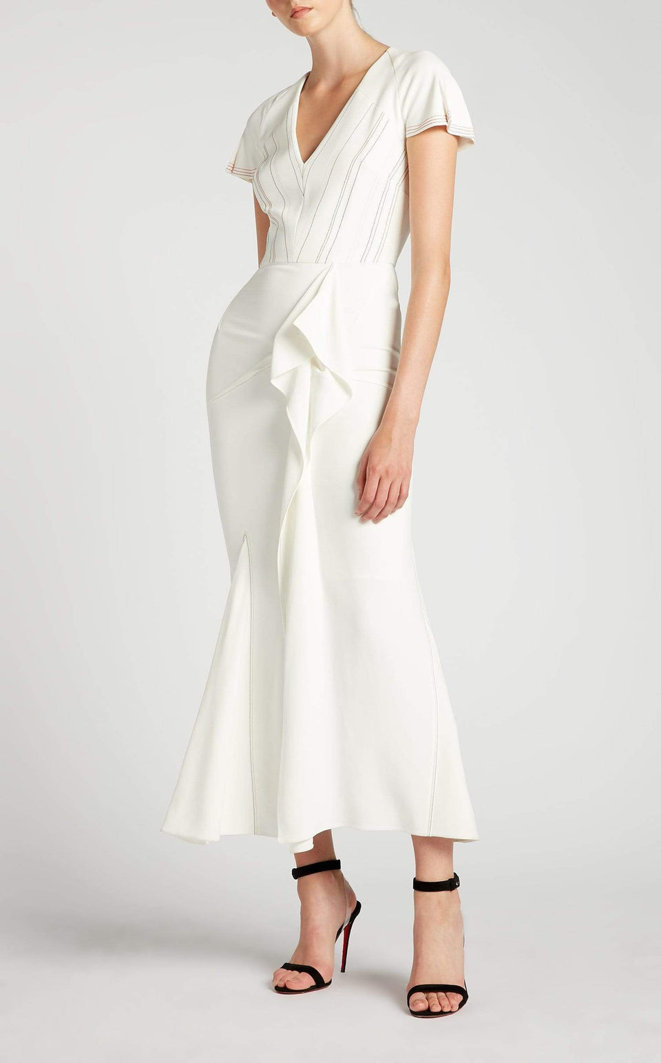 Bates Dress In White Multi from Roland Mouret