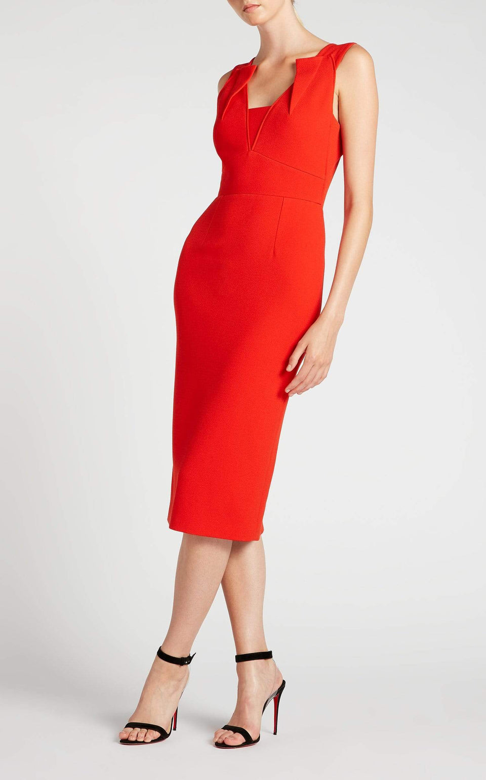 Coleby Dress In Poppy Red from Roland Mouret