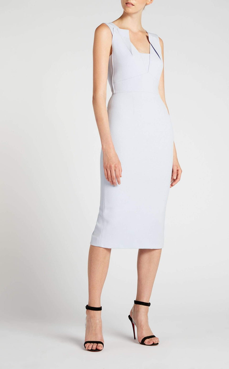 Coleby Dress In Ash Blue from Roland Mouret