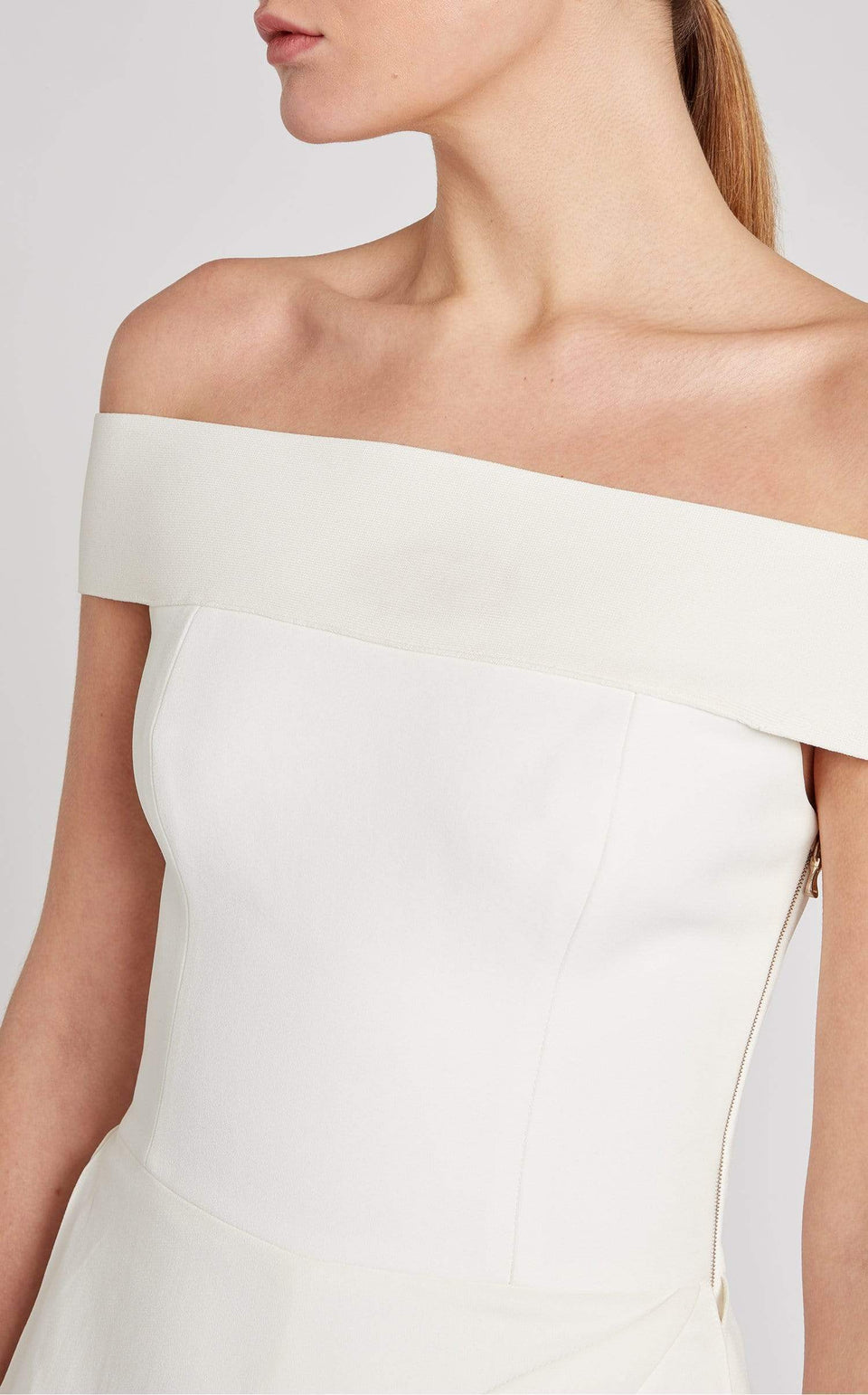 Danielson Jumpsuit In White from Roland Mouret
