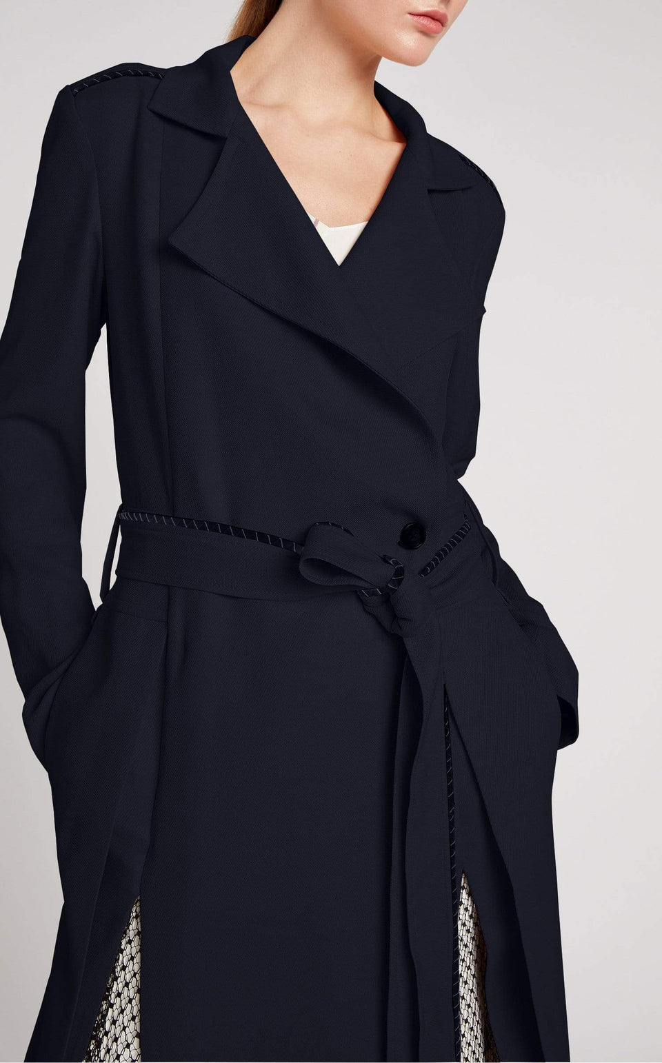 Drummond Coat In Navy/Black from Roland Mouret
