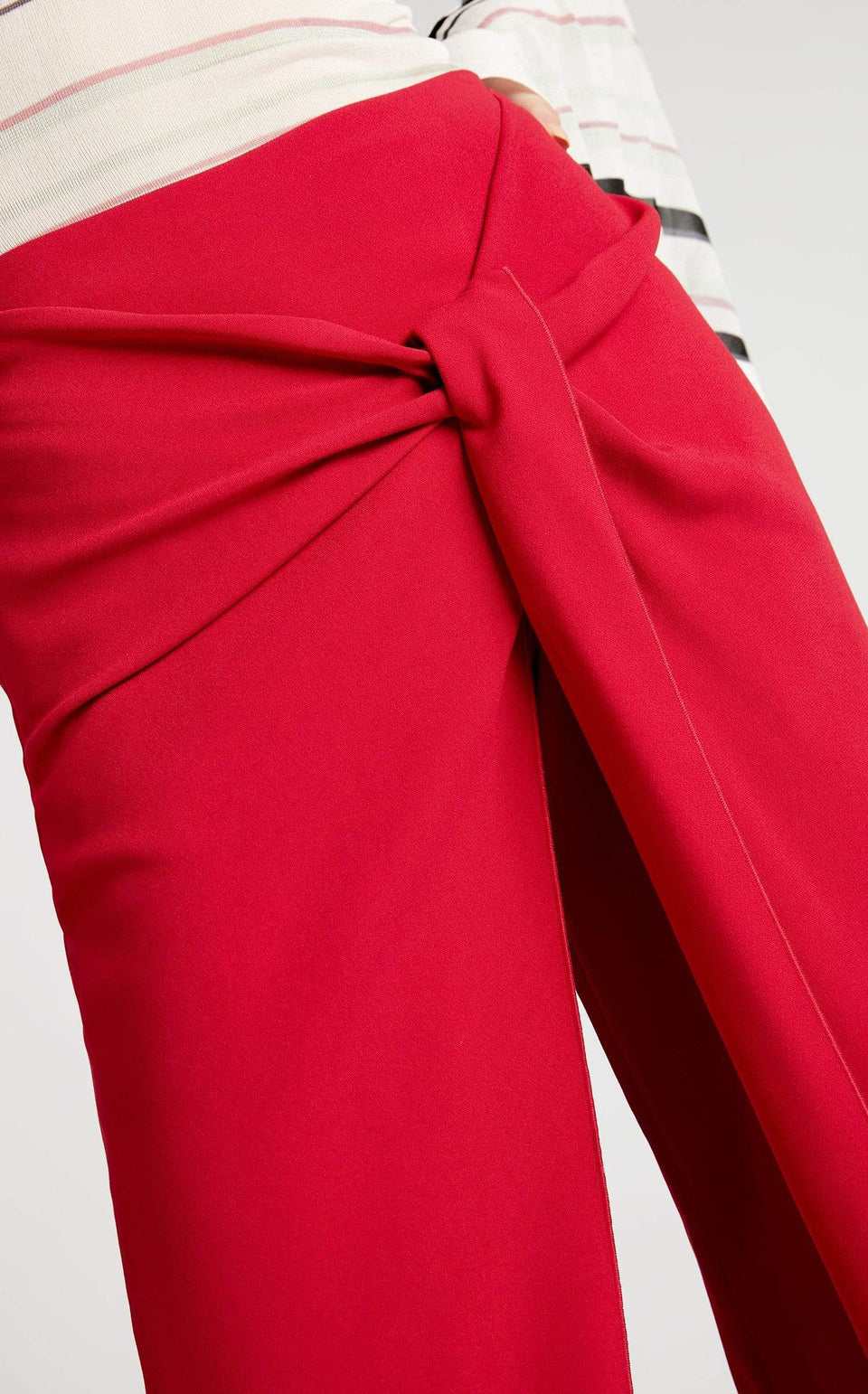 Fenwick Trouser In Ruby from Roland Mouret