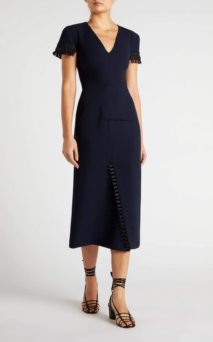 Fortana Dress In Navy/Black from Roland Mouret