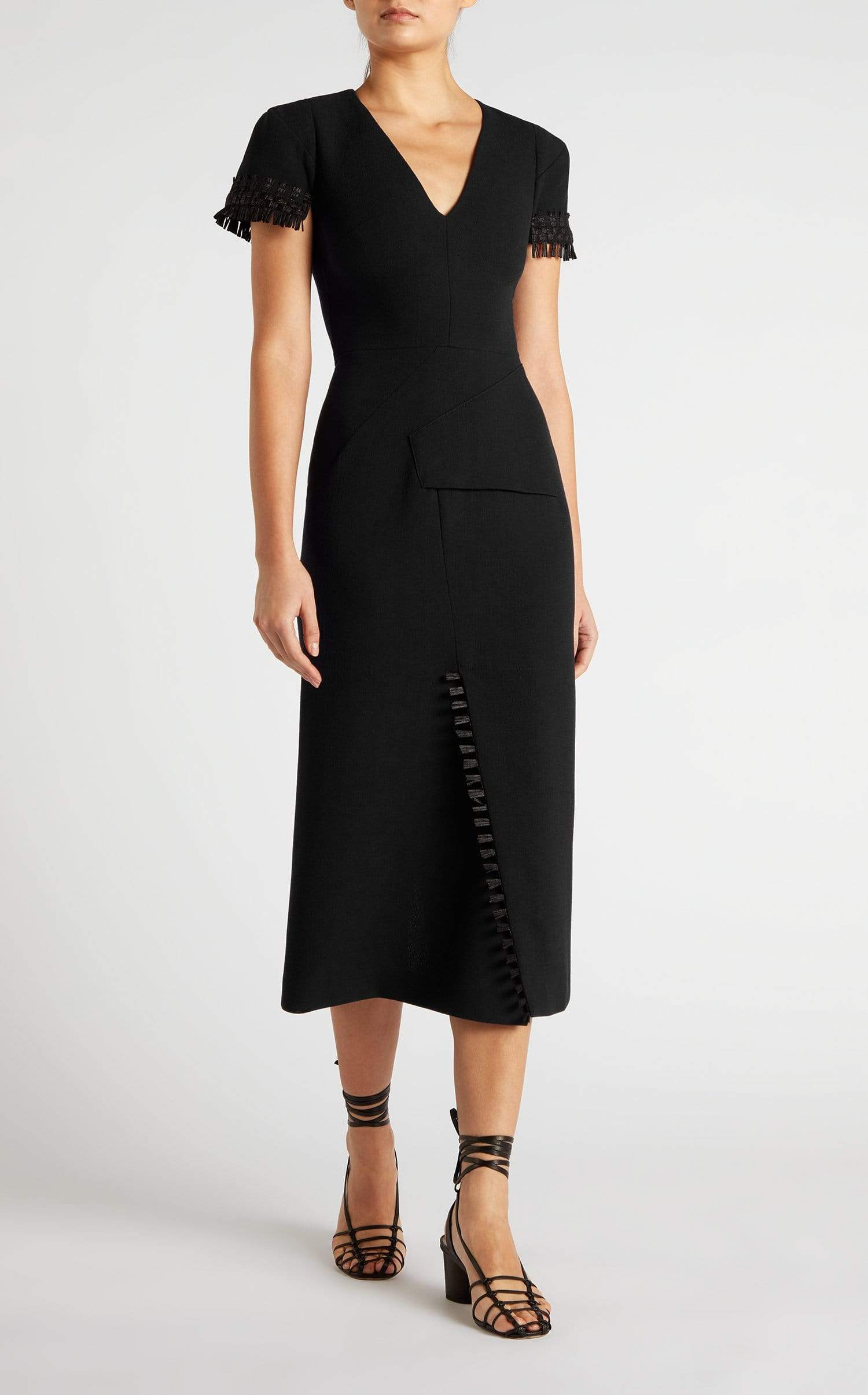 Fortana Dress In Black from Roland Mouret
