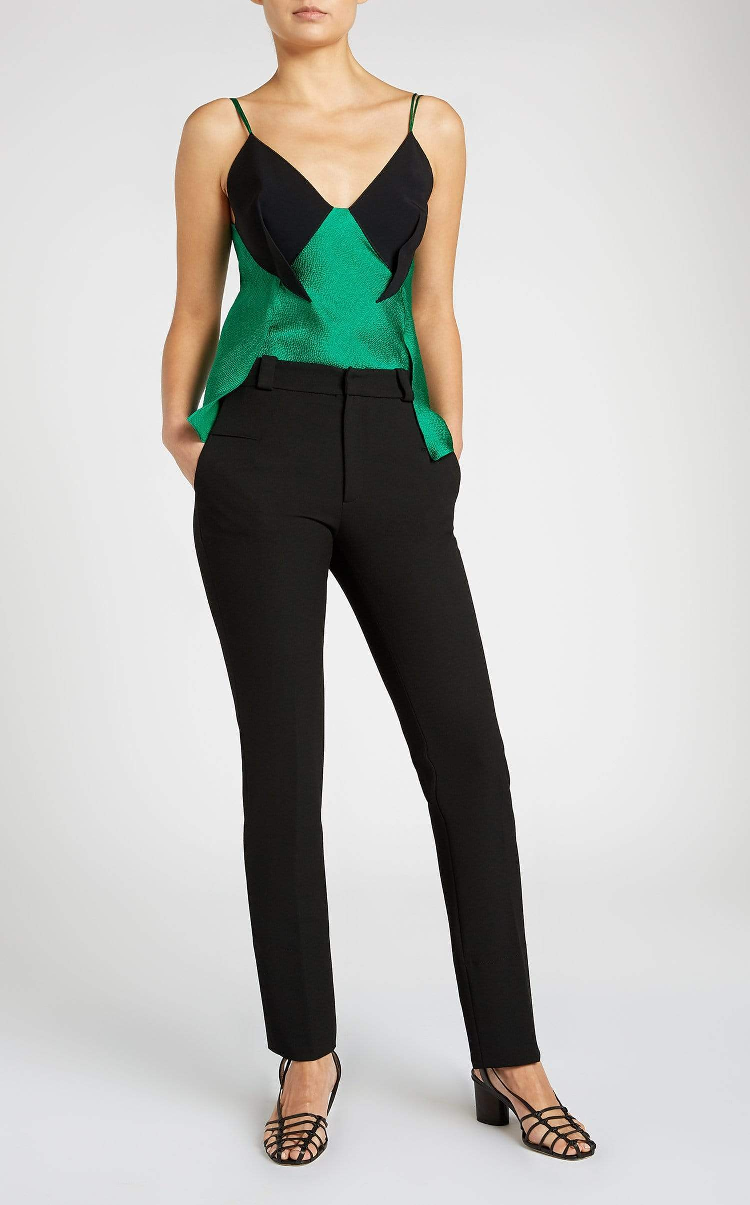 Fritz Top In Emerald/Black from Roland Mouret