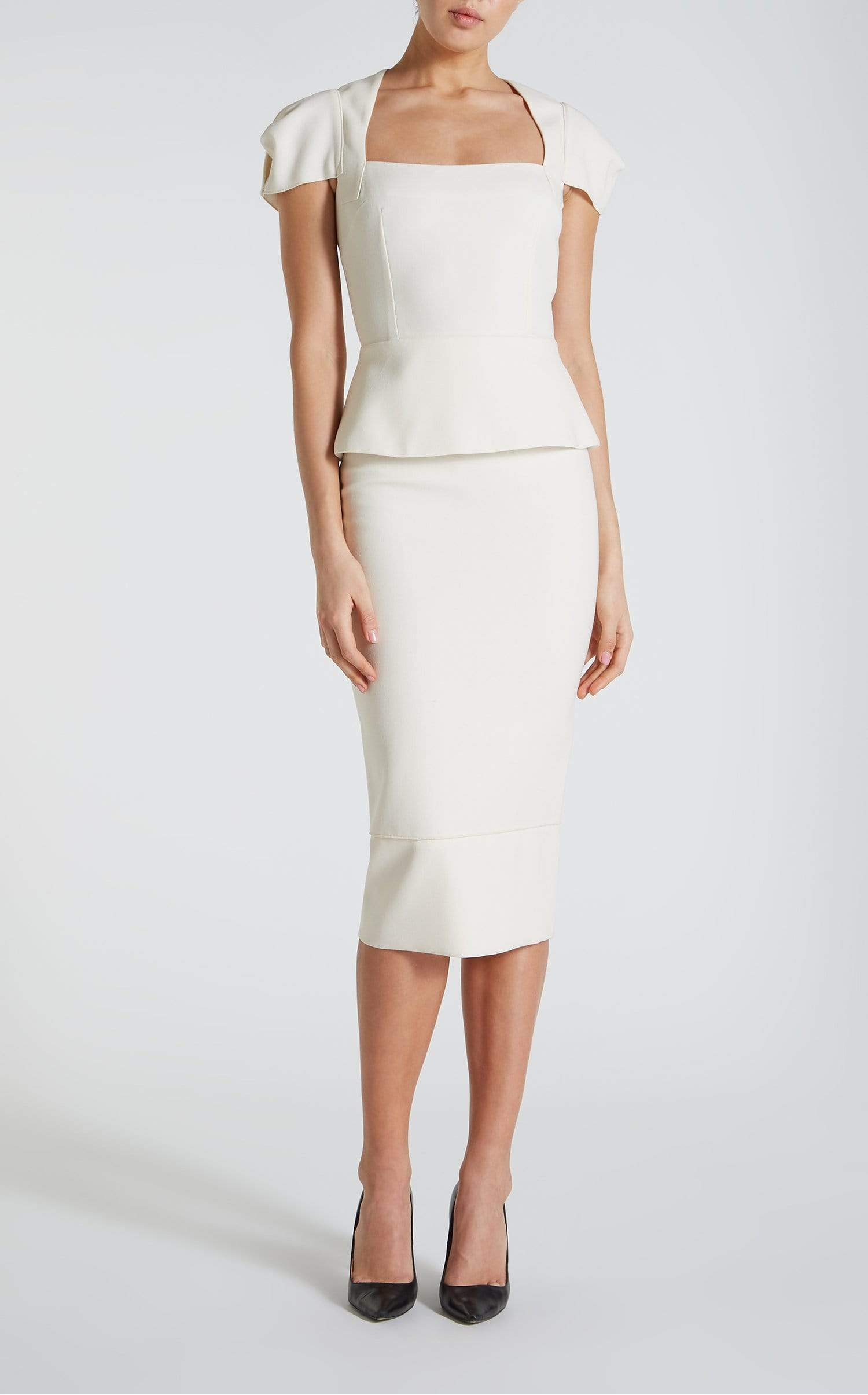Galaxy Top In White from Roland Mouret