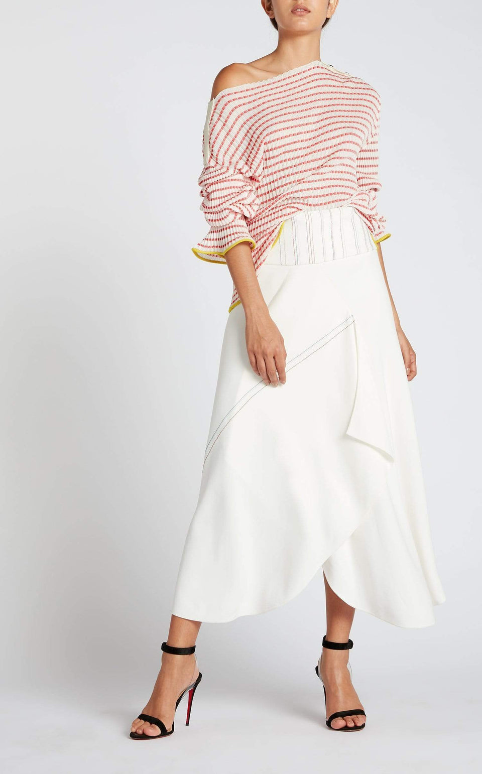 Hurst Skirt In White Multi from Roland Mouret