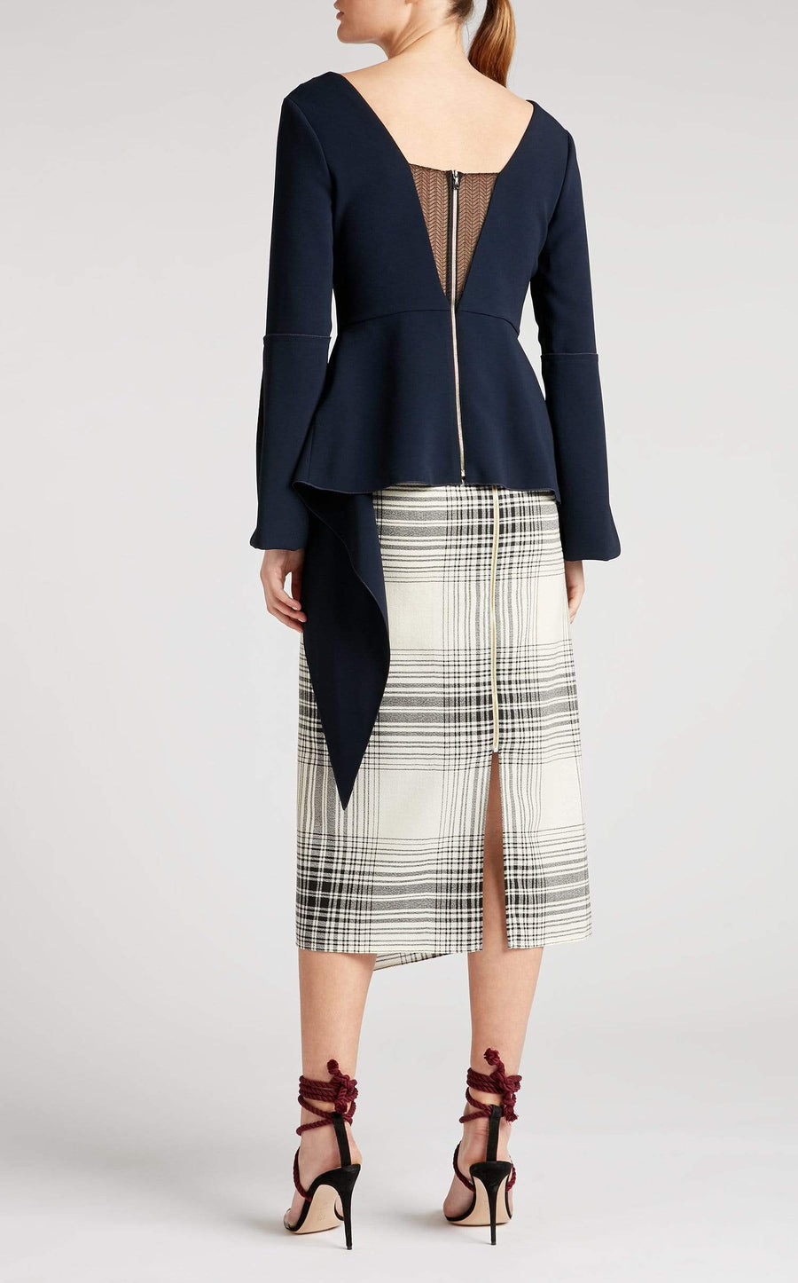Leighton Top In Navy/Black from Roland Mouret