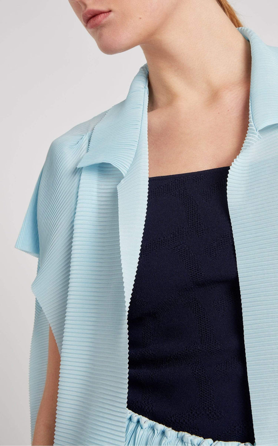 Lescaut Top In Ice Blue from Roland Mouret