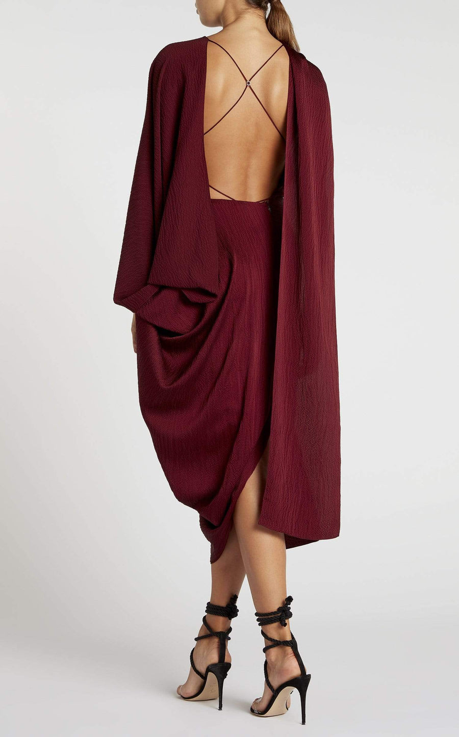 Lillico Dress In Cabernet from Roland Mouret