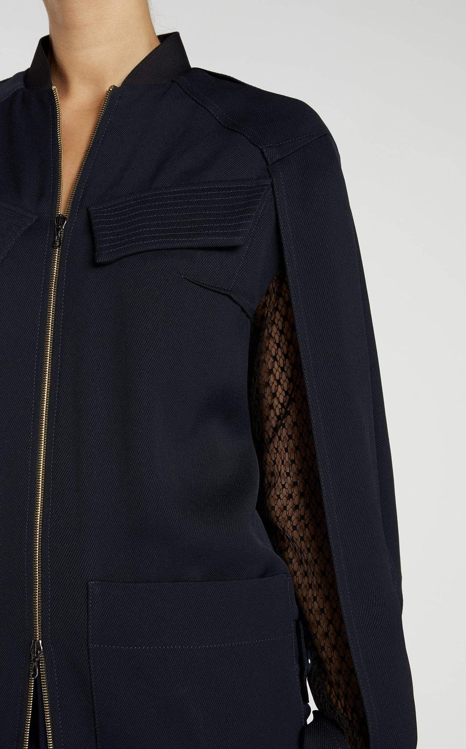 Marco Coat In Navy/Black from Roland Mouret