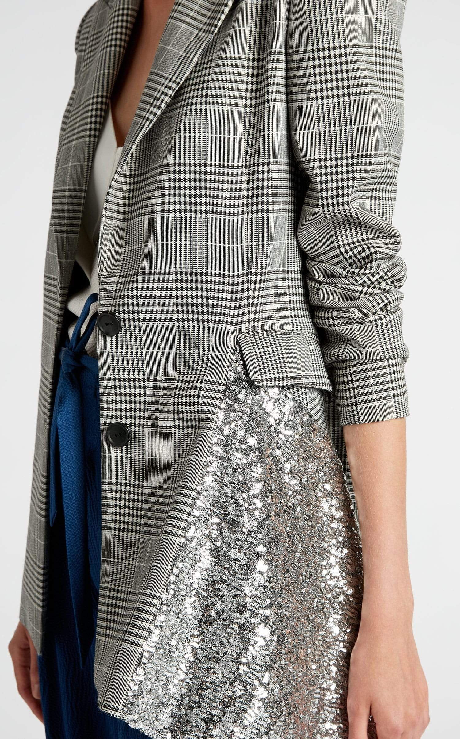 Marmont Jacket In Monochrome/Silver from Roland Mouret