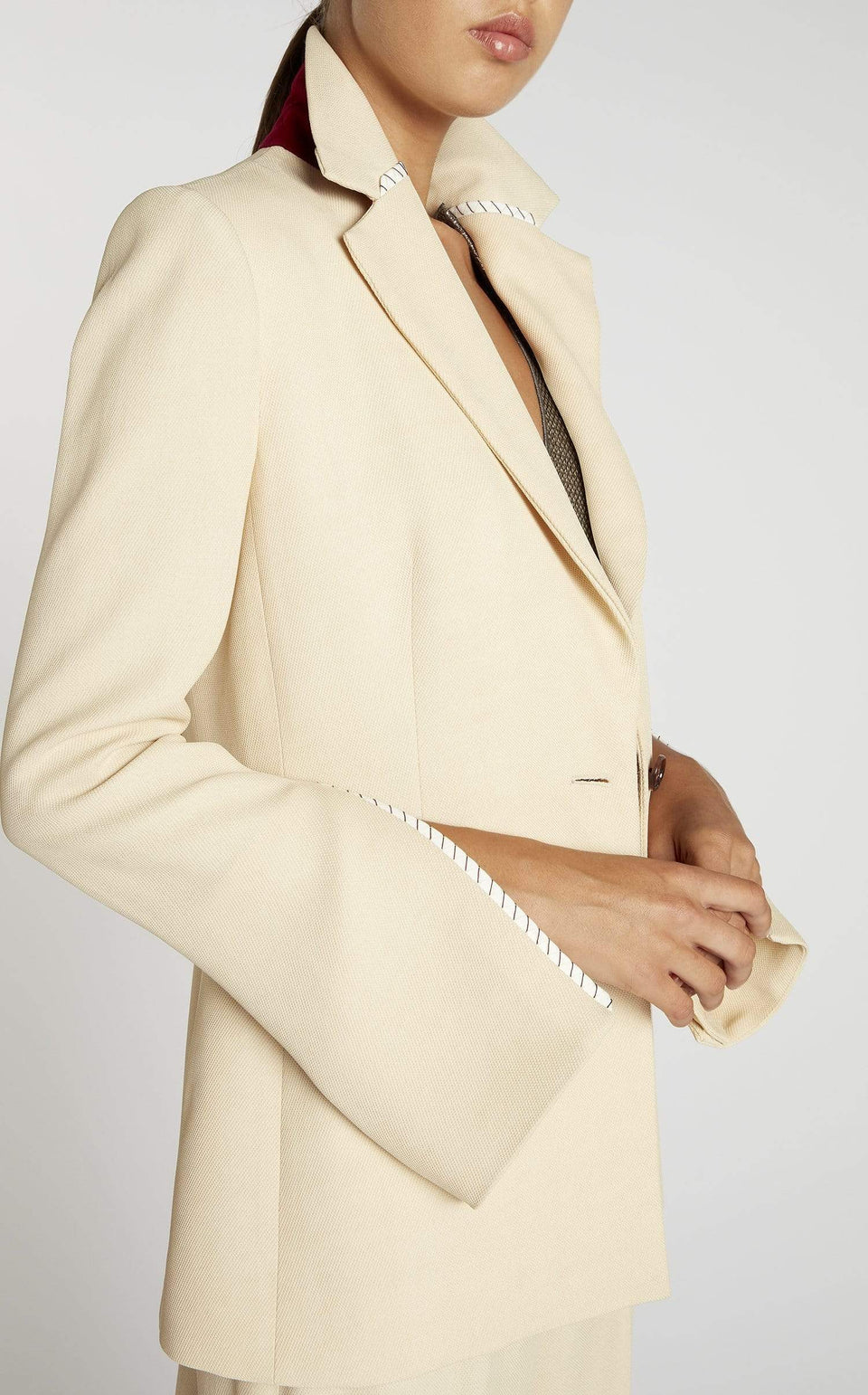 Moorehead Jacket In Oatmeal/Black from Roland Mouret