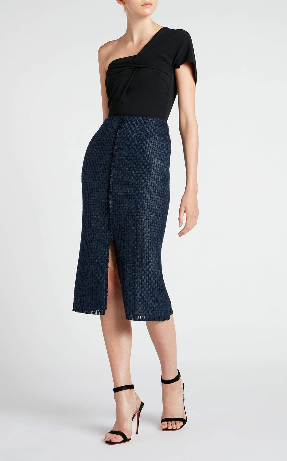 Morita Dress In Navy/Black from Roland Mouret