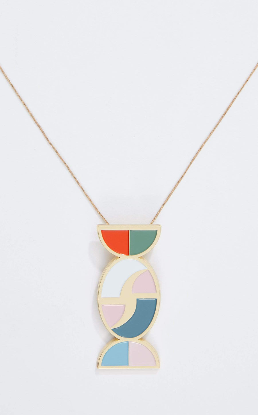 Nanou Pendant In Gold Multi from Roland Mouret