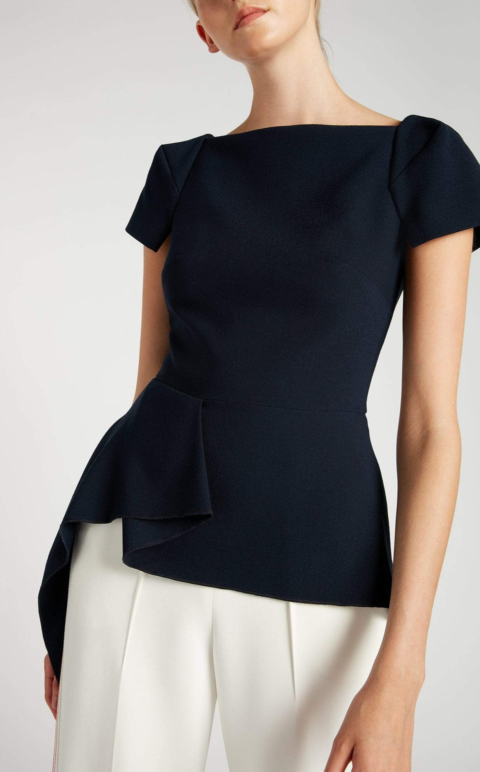 Newhall Top In Navy from Roland Mouret