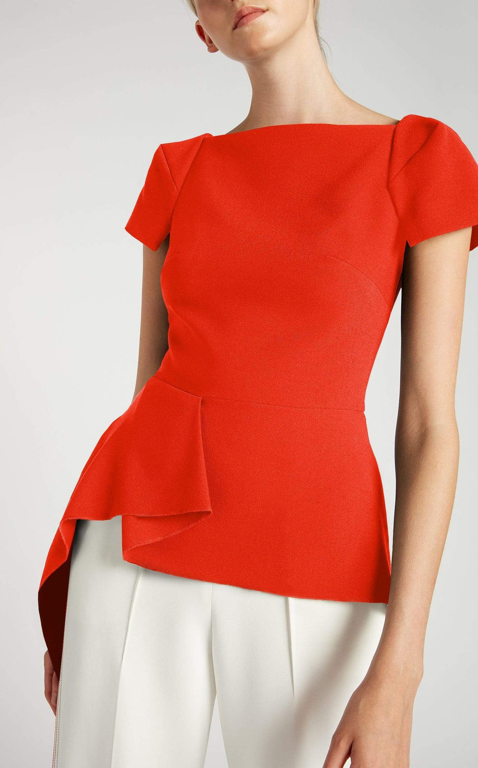 Newhall Top In Poppy Red from Roland Mouret