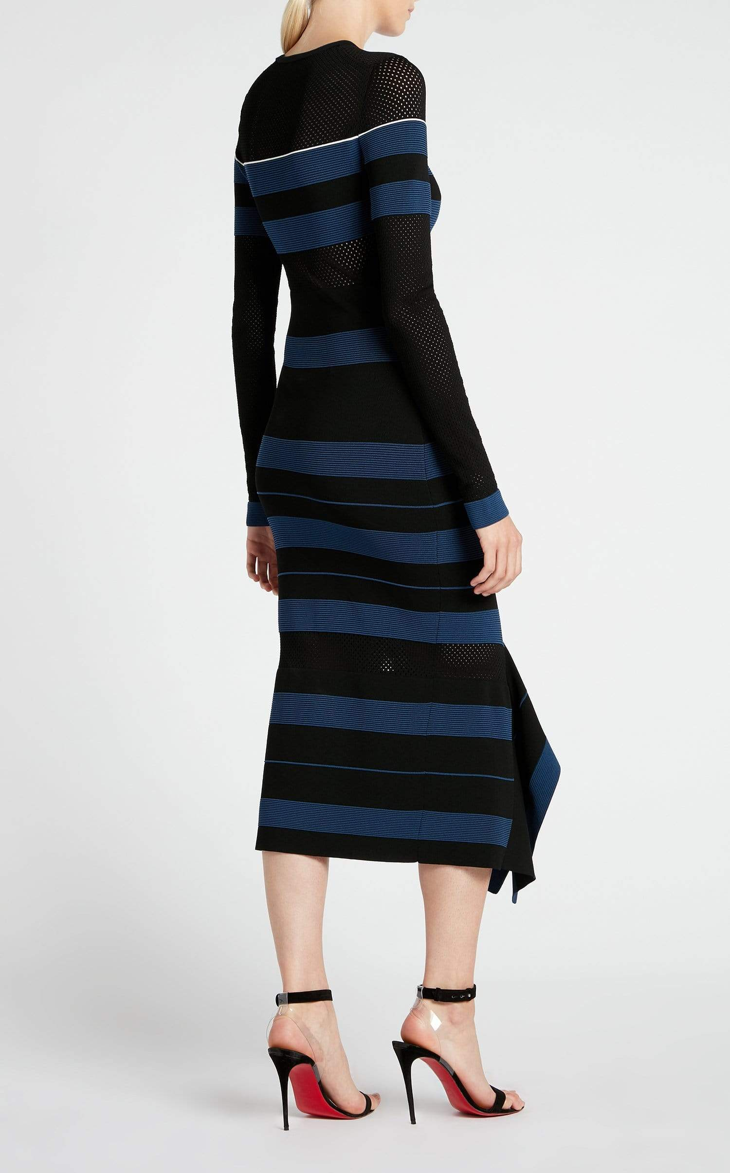 Olivier Dress In Black/Ultramarine/White from Roland Mouret